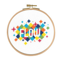Flow Counted Cross Stitch Kit By DMC