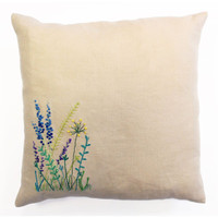 Wild Flowers Embroidery Cushion Kit from DMC