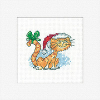 'Christmas Tigger' Cross Stitch Card Kit By Heritage