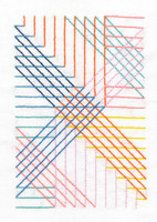 Parallel Lines Printed Embroidery Kit By DMC