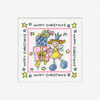 Happy Christmas Cross Stitch Card Kit By Heritage