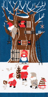 Tomte Tree House Cross Stitch Kit By DMC