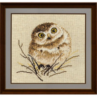 Owl on Twig Cross Stitch Kit by Oven