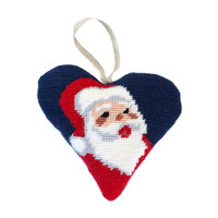Santa Heart Decoration Tapestry Kit By Cleopatra