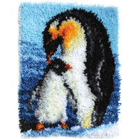 Penguins Latch Hook Kit By Wonderart
