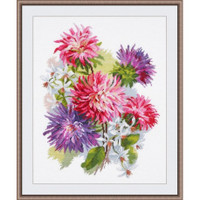 Asters Cross Stitch Kit by Oven
