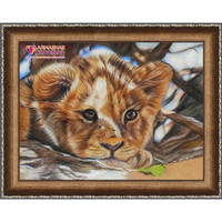 Little Lion Diamond Painting Kit