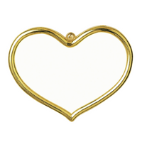 Frame: Plastic: Heart Shaped: 8 x 5cm: Gold