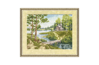 Chapel near the river Cross Stitch Kit by Golden Fleece