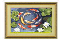 Koi Cross Stitch Kit by Golden Fleece