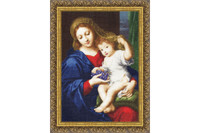 Madonna with Grapes Cross Stitch Kit by Golden Fleece