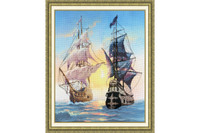 Meeting on the sunset Cross Stitch Kit by Golden Fleece