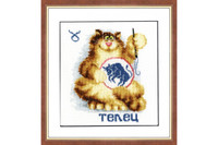 Zodiac Sign - Taurus Cross Stitch Kit by Golden Fleece