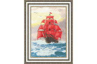 ?rimson Sails Cross Stitch Kit by Golden Fleece