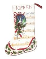 Silent Night Stocking Cross Stitch Kit By Janlynn