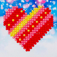 Patchwork Heart Craft Kit By Diamond Dotz