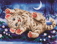 Baby Tiger Roly Poly Craft Kit By Diamond Dotz