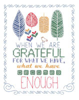 Grateful Embroidery Kit By Janlynn