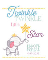 Twinkle Twinkle Birth Announcement Cross Stitch Kit By Janlynn