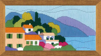 Town by the Sea Long Stitch Kit By Riolis