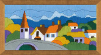 Town in the Mountains Long Stitch Kit By Riolis