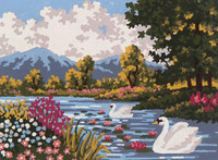 River Landscape Tapestry Canvas By Grafitec