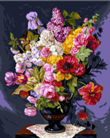 Bouquet Champetre Canvas By Grafitec