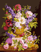 Bouquet Ancien Canvas By Grafitec