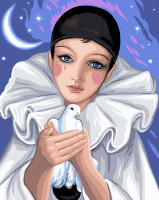 Pierrot Canvas By Grafitec