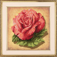 Rose Cross Stitch Kit By Riolis