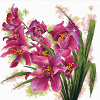 Lovely Orchids No Count Cross Stitch Kit By Riolis