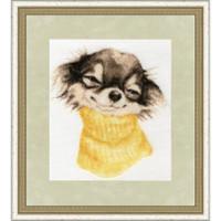 Terrier Cross Stitch Kit by Golden Fleece