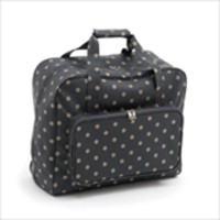 Matt PVC - Charcoal Polka Dot  Sewing Machine Bag By Hobby Gift
