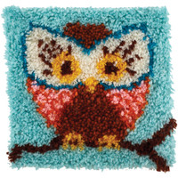 Hoot Hoot (Owl) Latch Hook Rug Kit From Wonderart