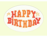 Happy Birthday Cross Stitch Card Kit By Heritage Crafts