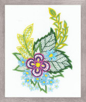 Cornflowers Sketch Printed Embroidery Kit By Riolis