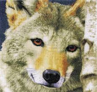 Wolf cross Stitch Kit by Lanarte