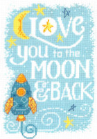 Love You To The Moon Cross Stitch Chart By Diane Arthurs