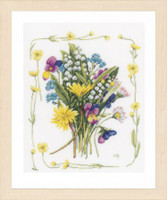 Bouquet of field flowers Cross Stitch Kit by Lanarte