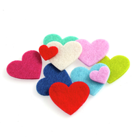 Felt Heart Motifs - Pack of 8 By Groves - over 30 Assorted Hearts