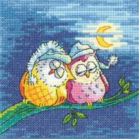 'Night Owls' Cross Stitch Kit By Heritage Crafts