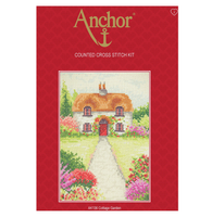 Cross Stitch Kit: Starter: Cottage Garden By Anchor