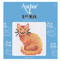 Cat Beginner 1st Cross Stitch Kit By Anchor
