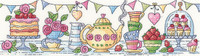Afternoon Tea Cross Stitch Kit by Heritage Crafts