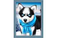 Diamond Painting Kit Blue eye Husky