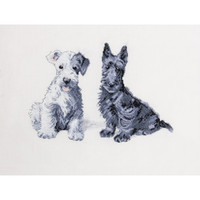 Molly and Evie Cross Stitch Kit by Ceil Aldin