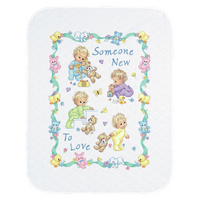Stamped Cross Stitch: Quilt: Someone New Baby By Dimensions