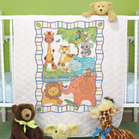 Stamped Cross Stitch: Quilt: Mod Zoo By Dimensions