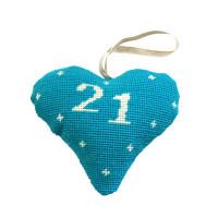 Birthday Celebration Heart 21 Tapestry Kit By Cleopatra