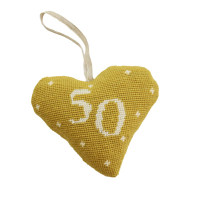 Birthday Celebration Heart 50 Tapestry Kit By Cleopatra